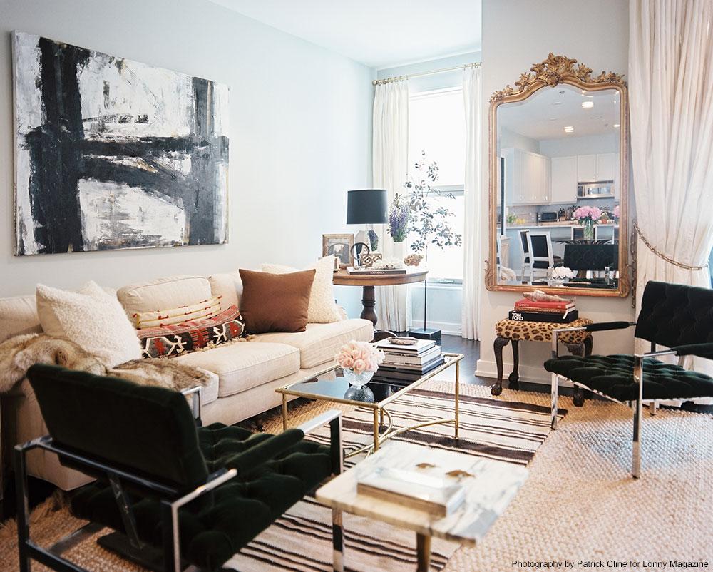 Nate Berkus Design Best Of Black Gold and Cream Living Room Photos