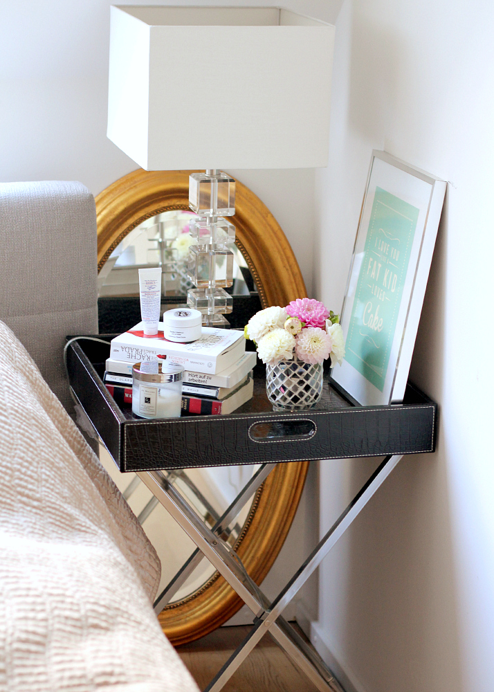 Tray Table Styling: bedside table | The Daily Dose
