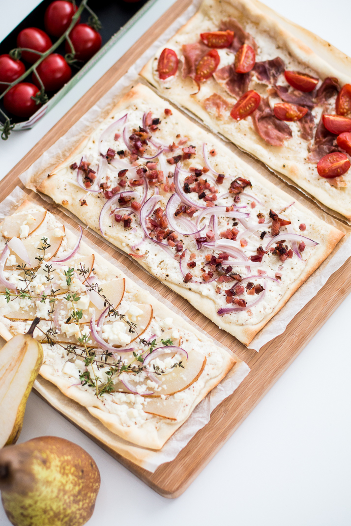 easy lunch 3x flammkuchen the daily dose. Black Bedroom Furniture Sets. Home Design Ideas