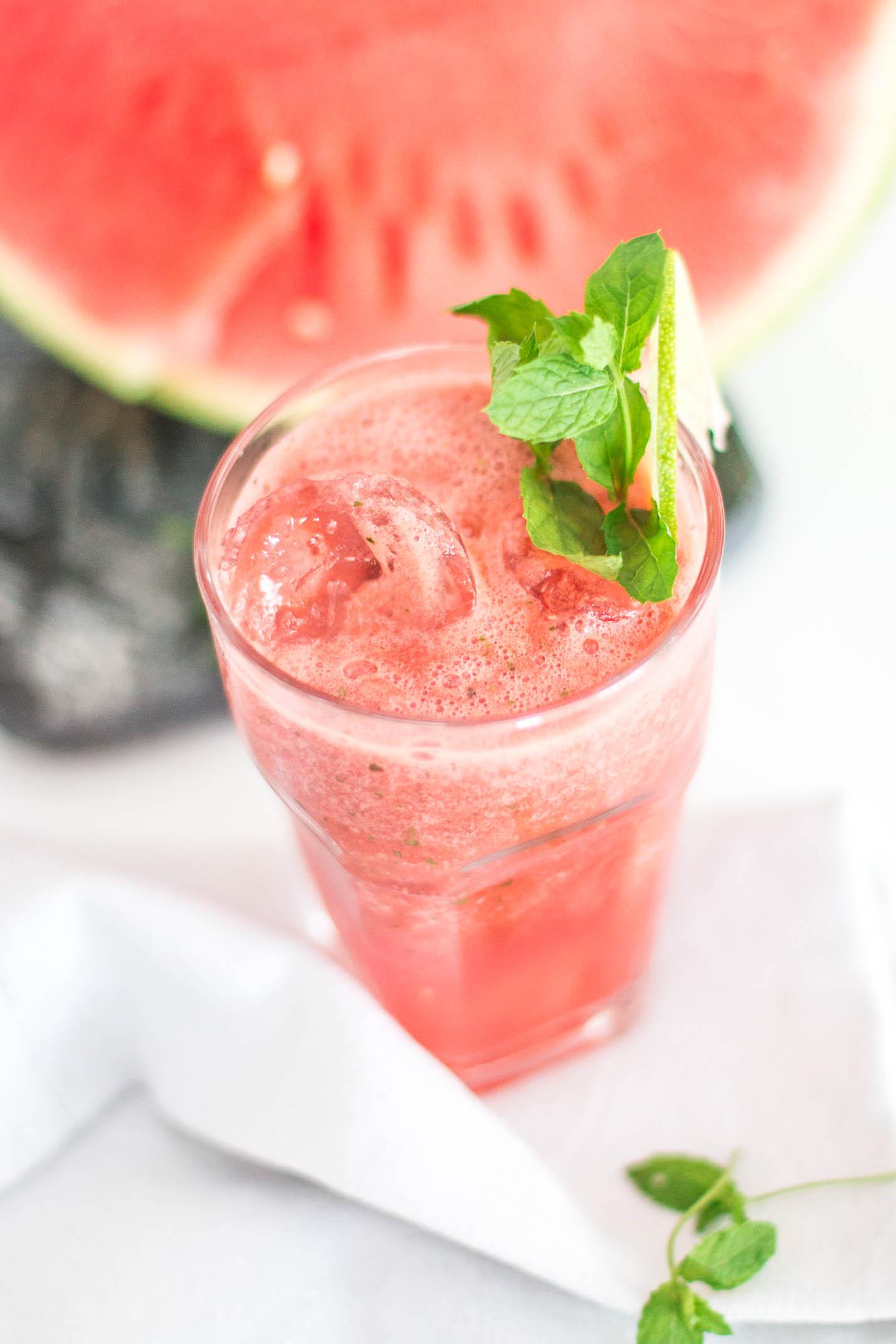 homemade watermelon juice