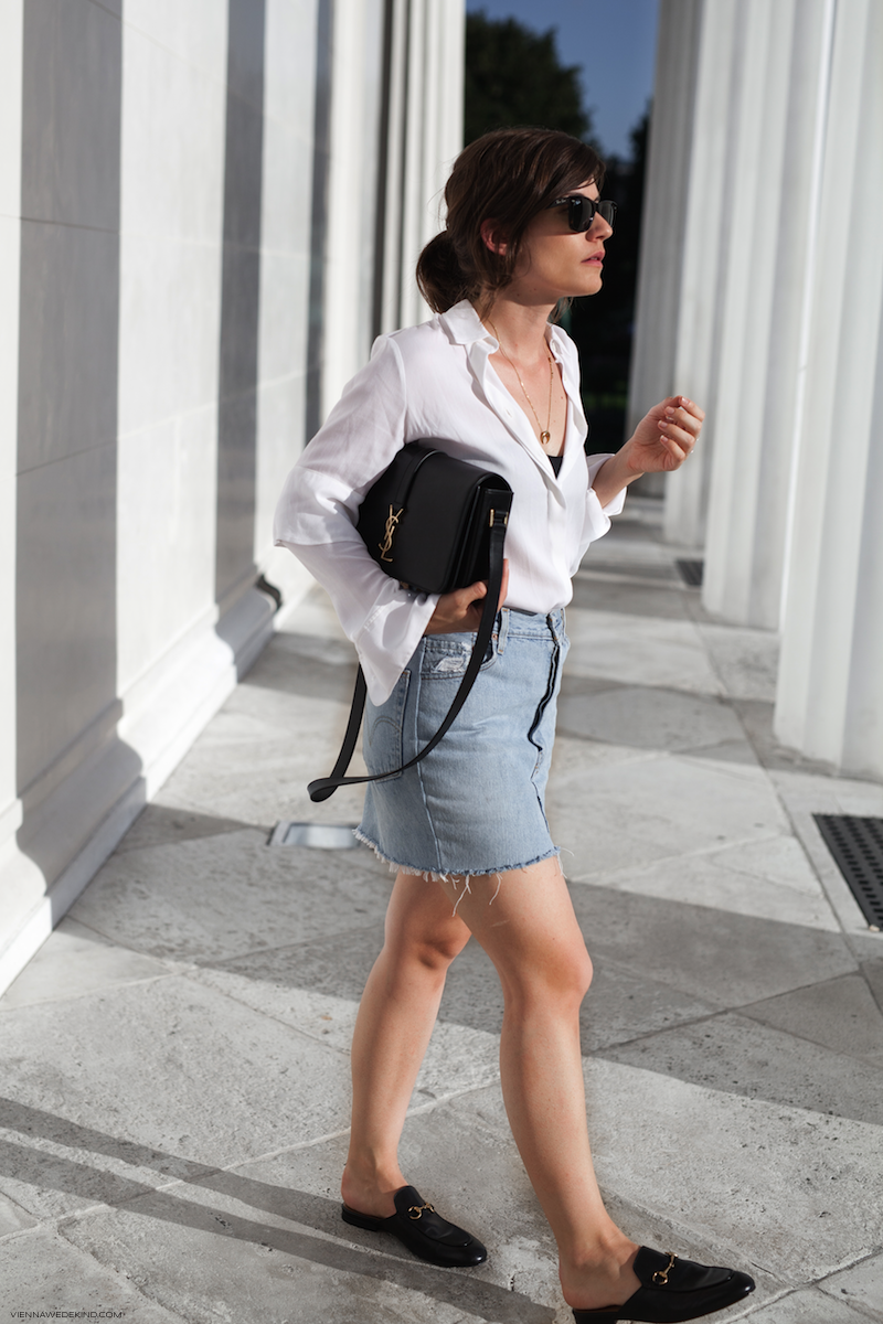 Steal Her Style: Summer in the City - Denim Skirt Outfit | Love Daily Dose