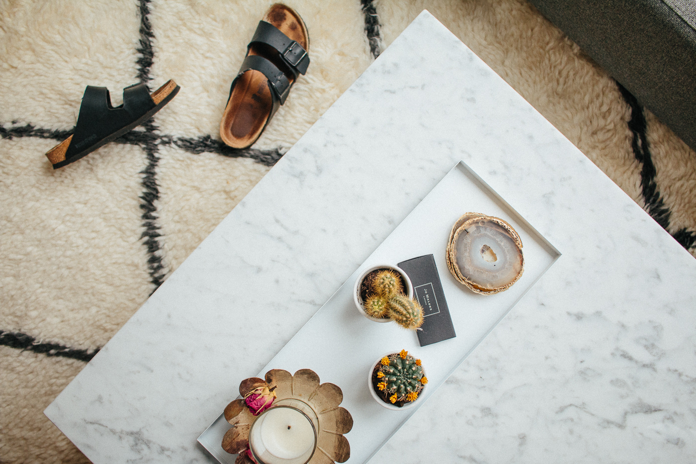 White Marble Coffee Table Interior Inspiration | Love Daily Dose