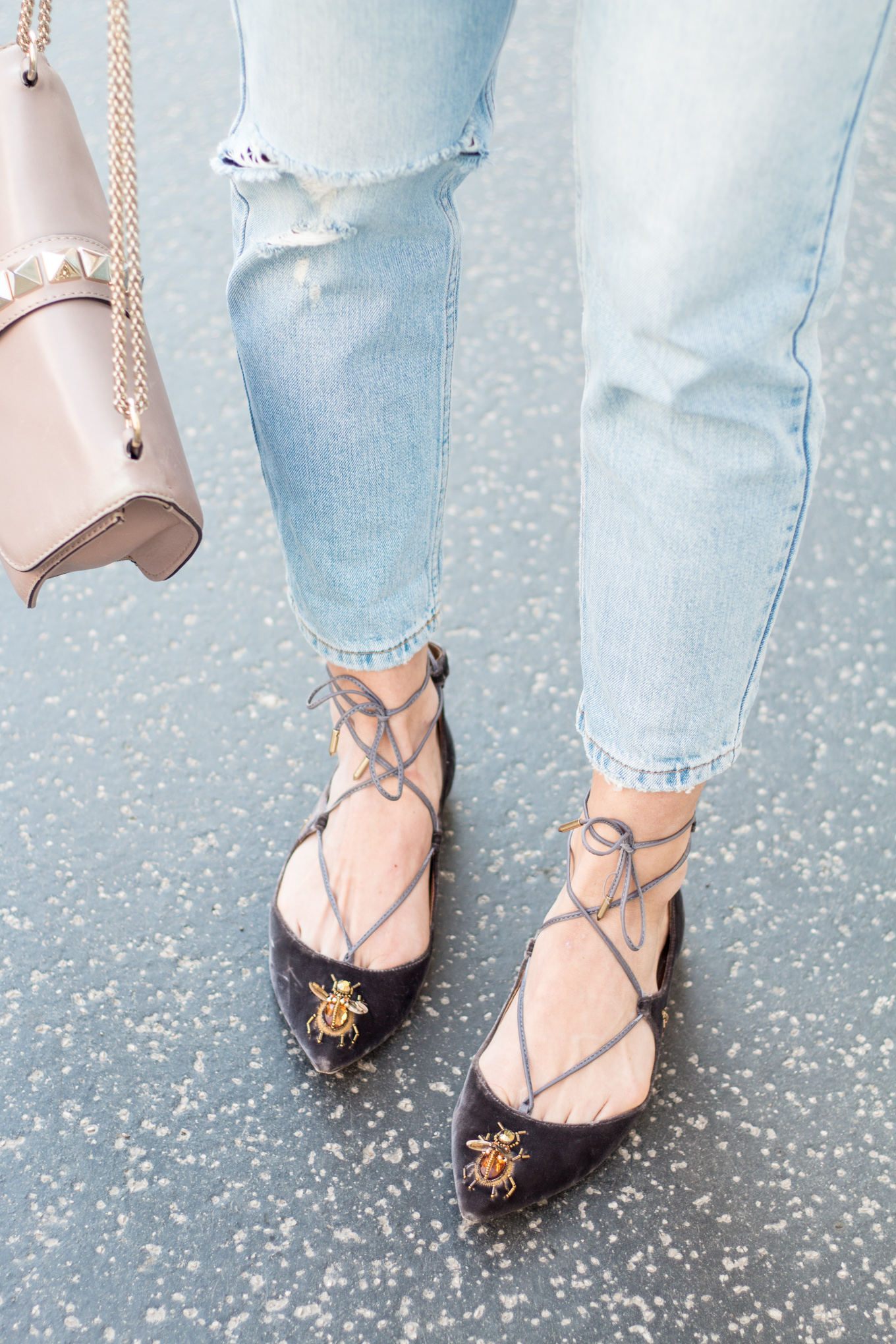 Editor's Pick: Pointy Lace Up Flats | The Daily Dose
