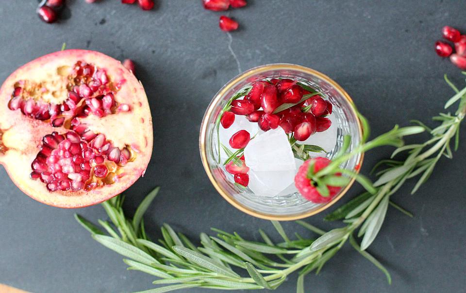 Pomegranate Rosemary Bubbly