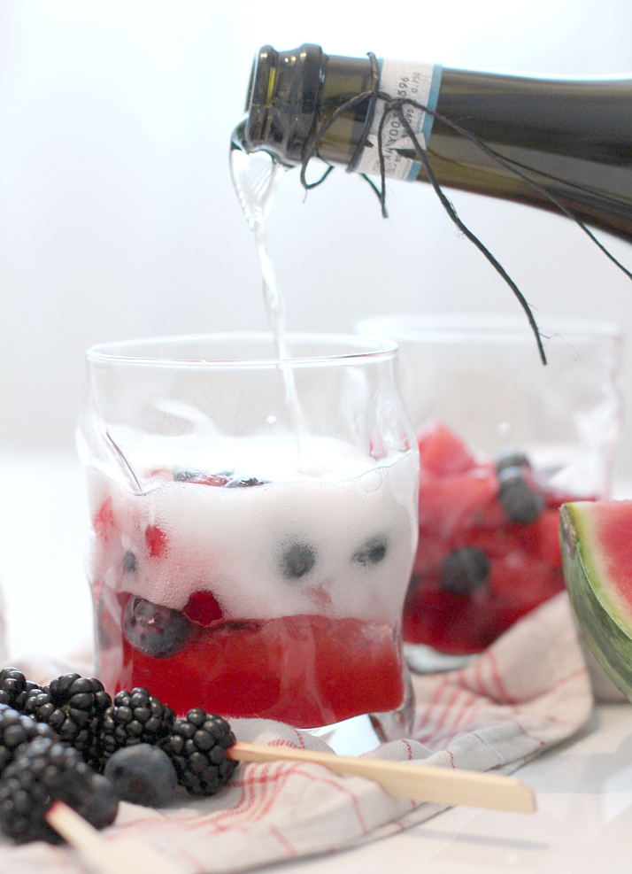 Bubbly Friday: berry blast with watermelon & martini bianco | The Daily Dose