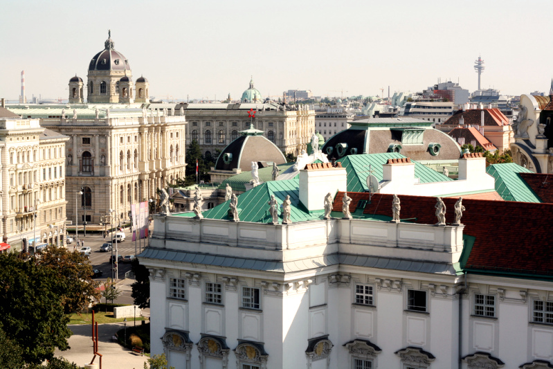 "View from ""Dachboden"" - 25 Hours Hotel Vienna"