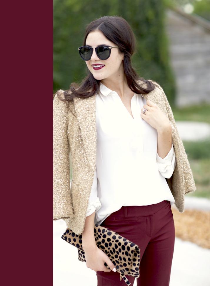 Fall Fashion: Jewel Tones - ruby red