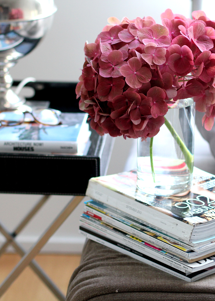 Tray Table Styling: sofa end table | The Daily Dose