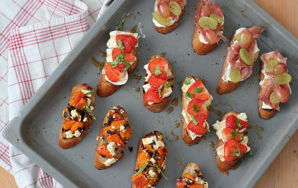 Crostini Bites: 3 Ways
