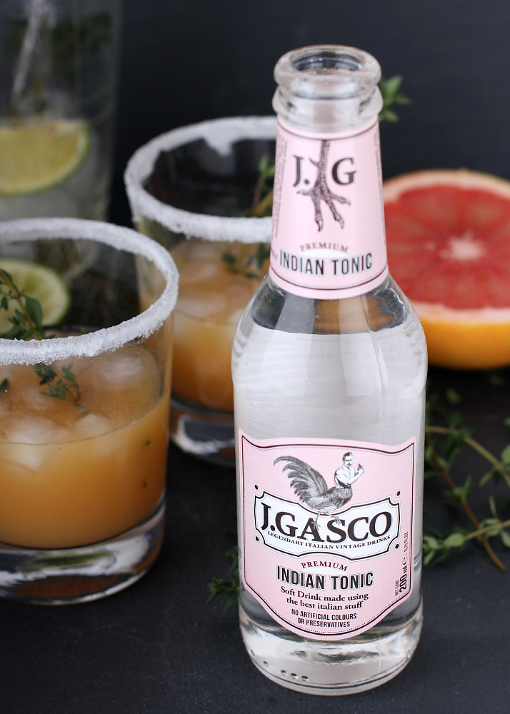 Fresco Mocktail With Grapefruit & Thyme   The Daily Dose