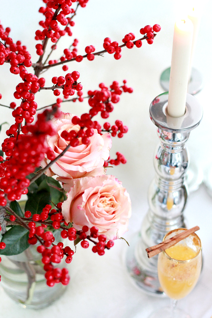 Festive Holiday Table Arrangement   The Daily Dose