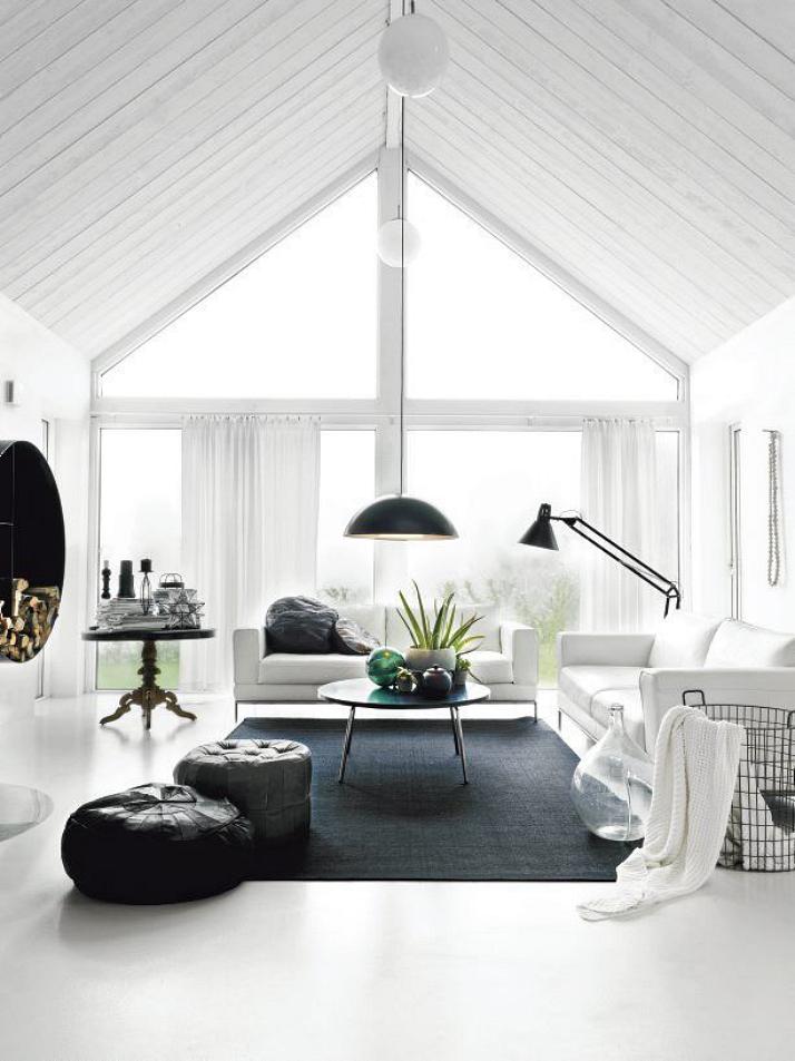 Black & White Livingroom | The Daily Dose