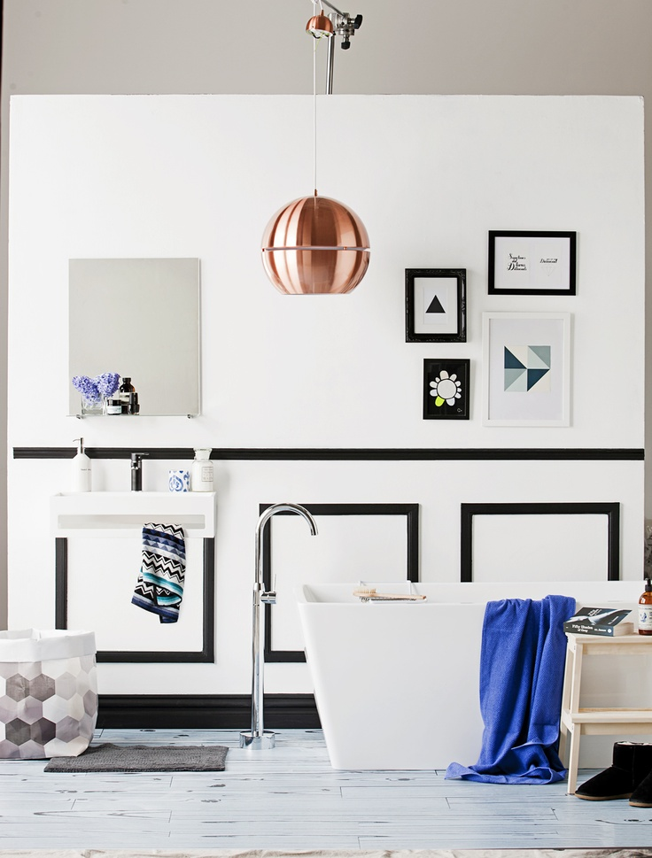 Black & White Bathroom | The Daily Dose