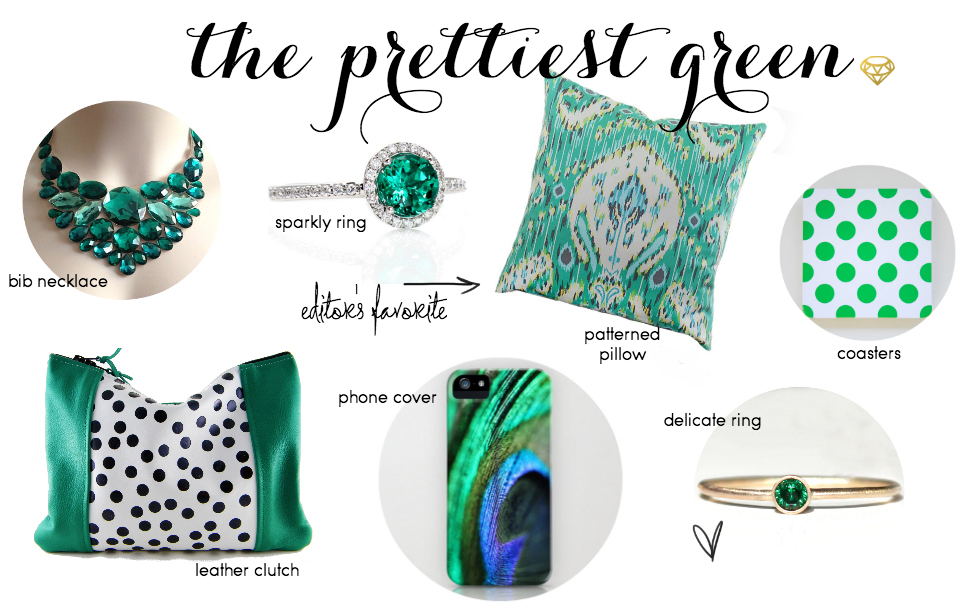 Etsy Picks Of The Week: Emerald, Baby!