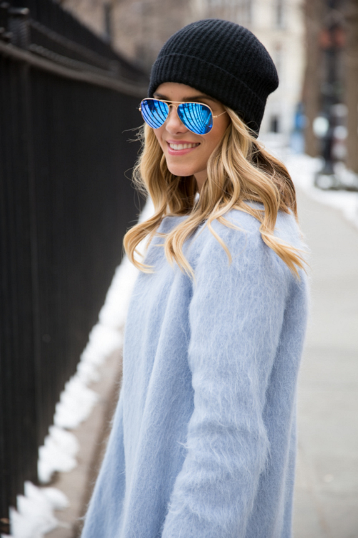 Steal Her Style: Babyblue Coat | The Daily Dose