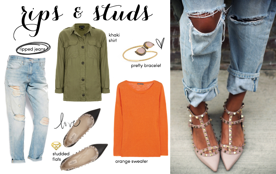 Steal Her Style: Rips & Studs
