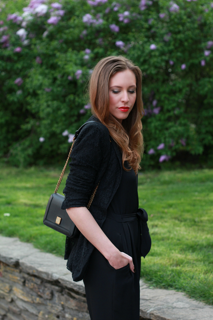 Black Tie Jumpsuit | The Daily Dose