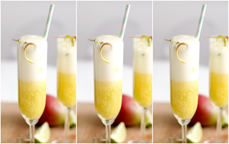 Mango-Lime Mimosas