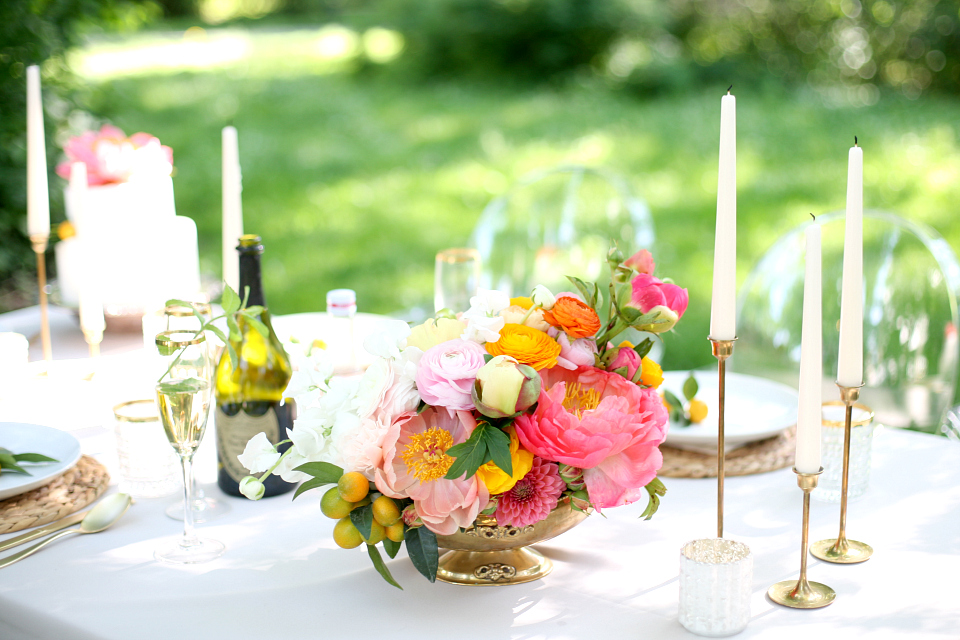 Fresh Summer Citrus Garden Wedding Table | Love Daily Dose