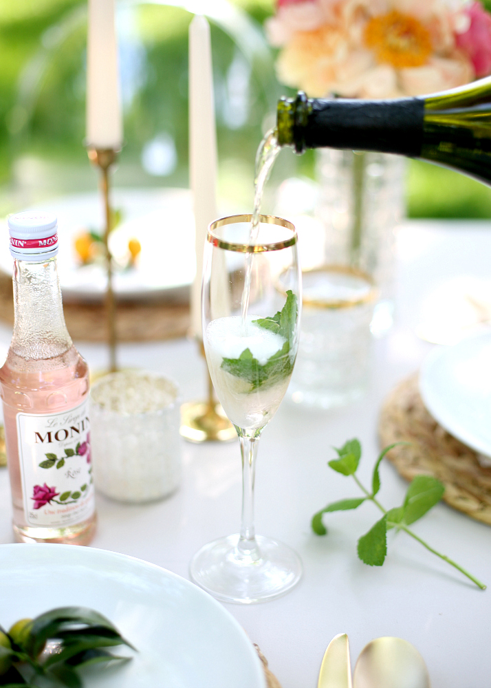 Sparkling Garden Rose - Signature Wedding Cocktail | Love Daily Dose