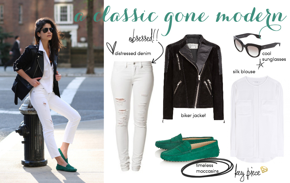 Steal Her Style: Moccasins & Leather Jackets