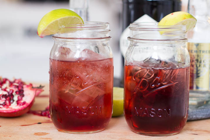 Bubbly Friday: Pomegranate Gin Tonic | The Daily Dose