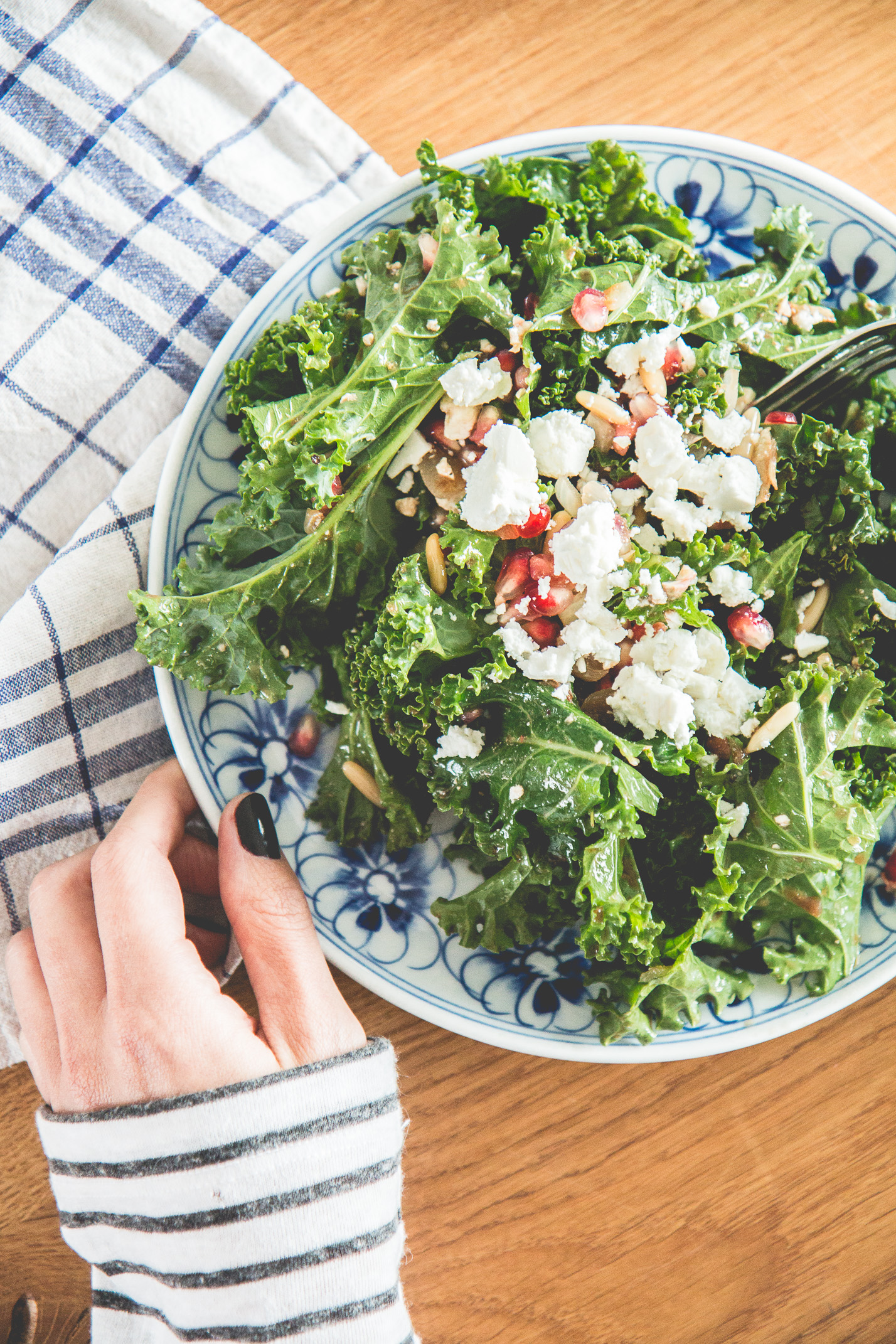 Pomegranate Kale Salad Recipe | Love Daily Dose