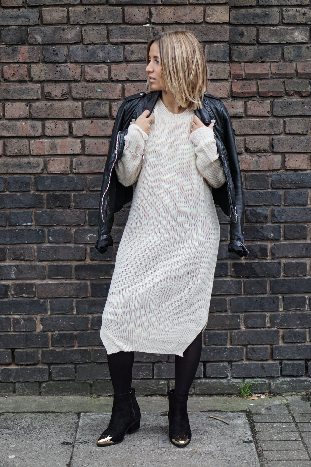 Steal Her Style: Sweater Dress Worn Two Ways | Love Daily Dose