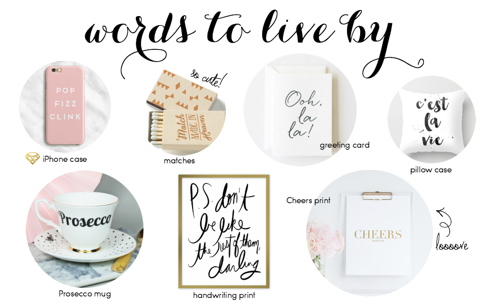 Etsy Picks: Words, Words, Words