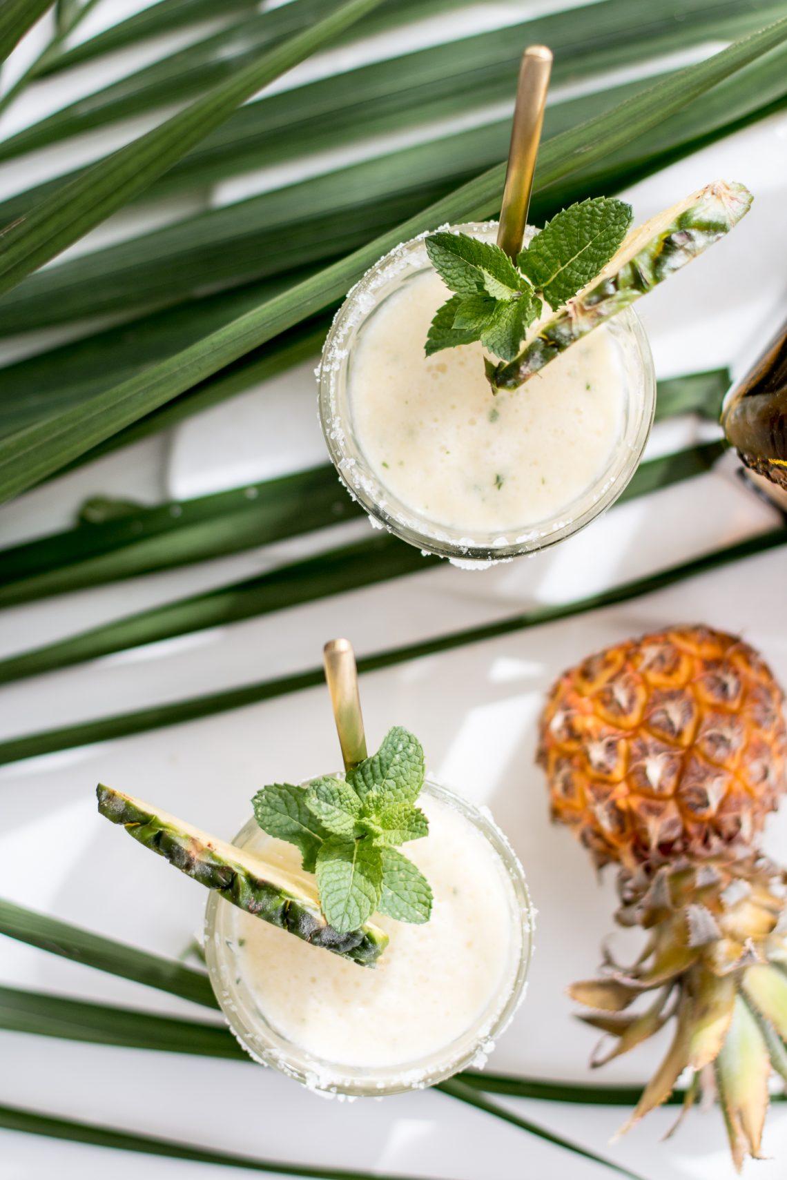 Bubbly Friday: Mint & Pineapple Margarita
