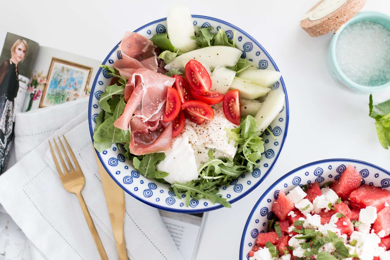 Melon Salad two ways: Feta and Prosciutto | Love Daily Dose