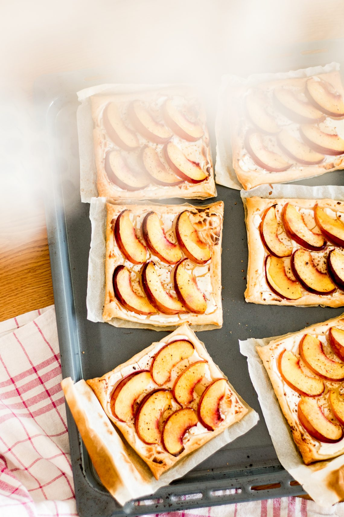 Recipe: Peach Tarts With Goat Cheese