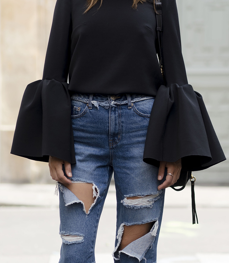 Steal Her Style: Bell Sleeves and Ripped Jeans | Love Daily Dose