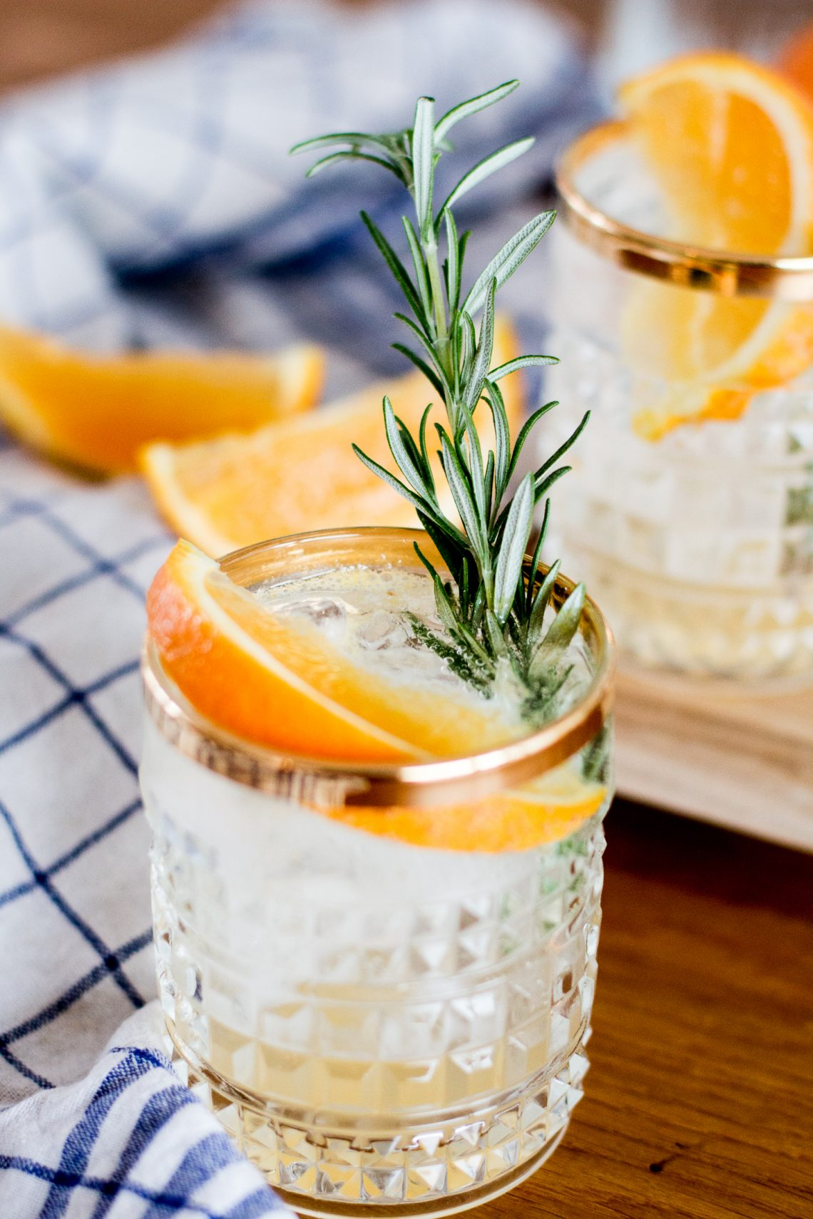 Bubbly Friday: Orange-Rosemary Vodka Soda