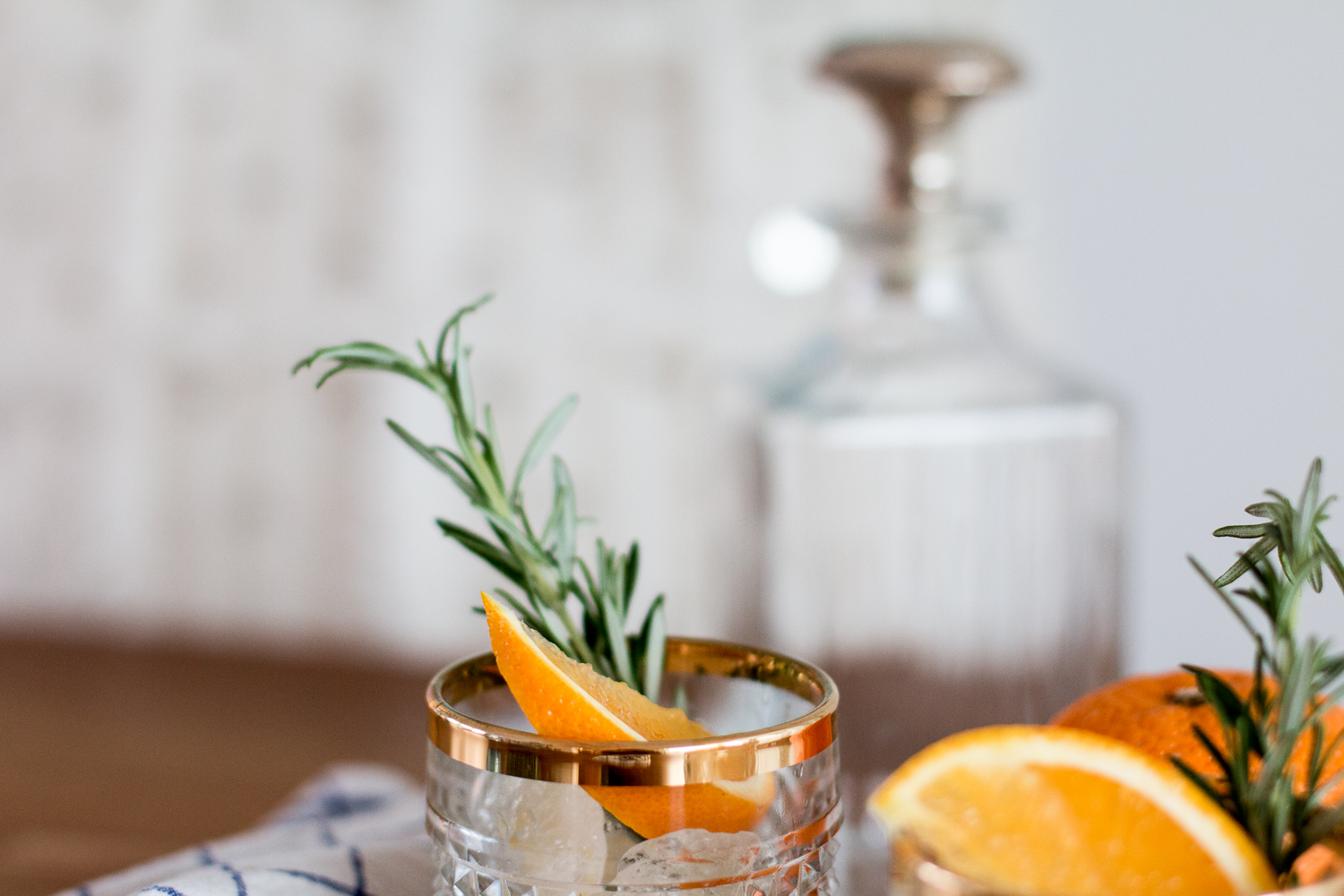 Bubbly Friday: Orange-Rosmary Vodka Soda | Love Daily Dose