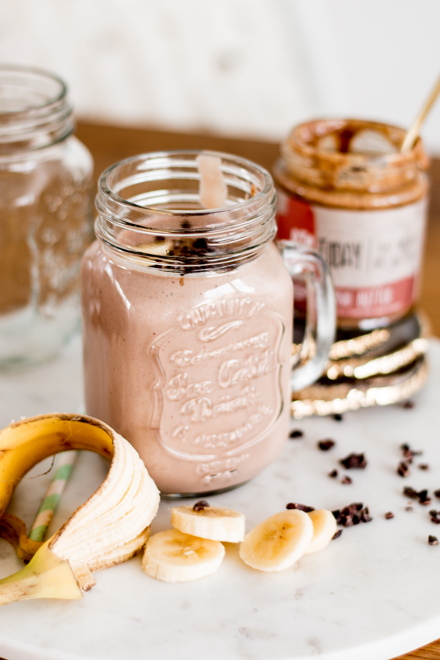 Almond Butter Protein Smoothie for Breakfast | Love Daily Dose