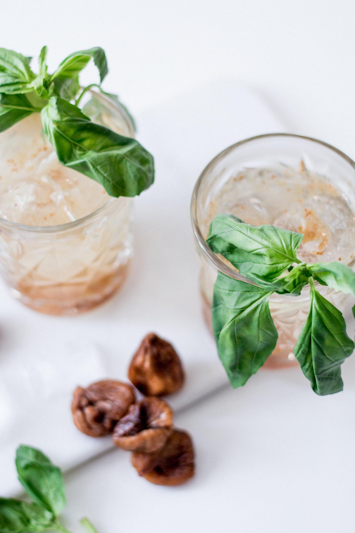 Basil Fig Vodka Smash Cocktail | Love Daily Dose