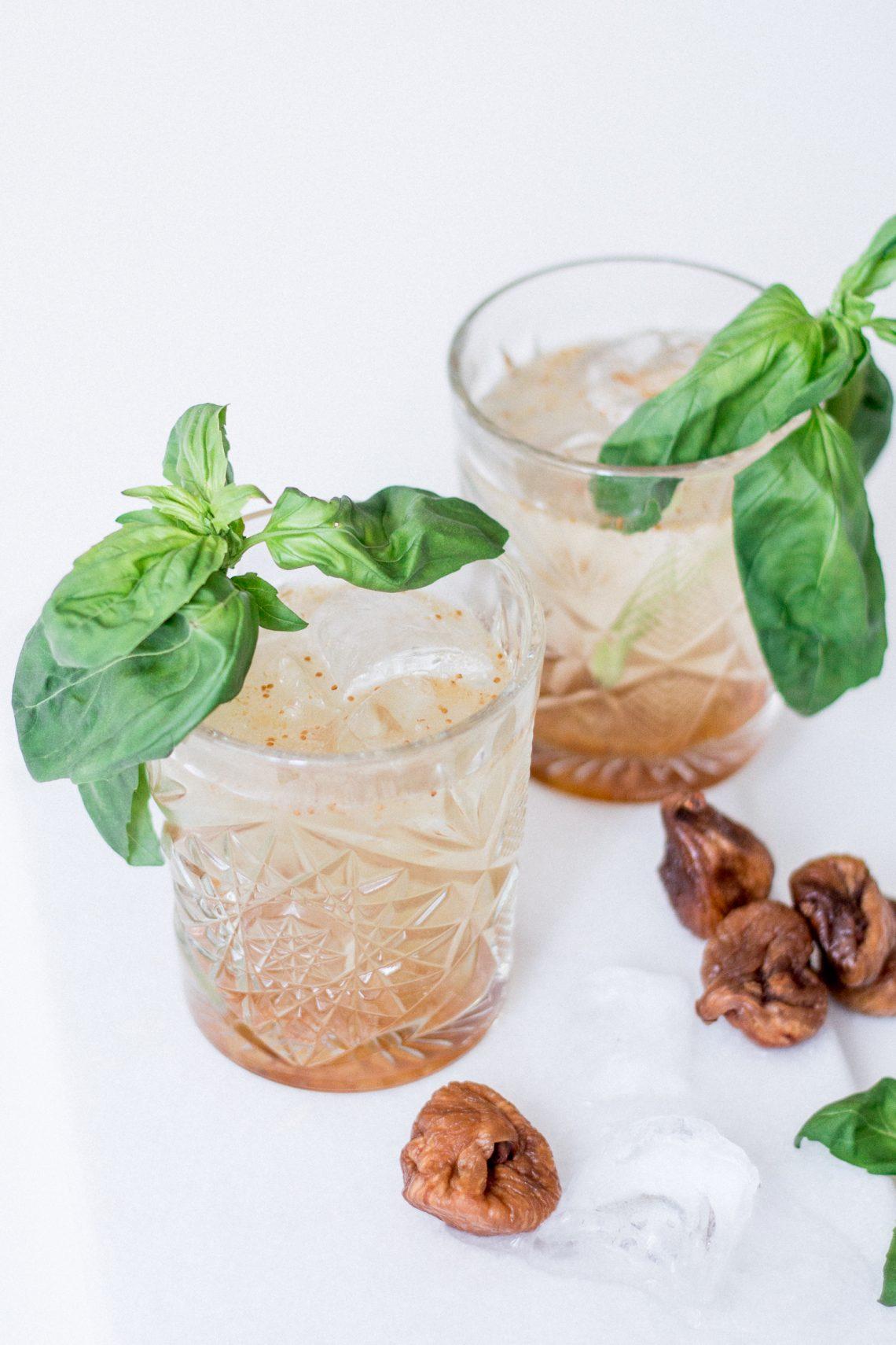 Bubbly Friday: Basil Fig Vodka Smash