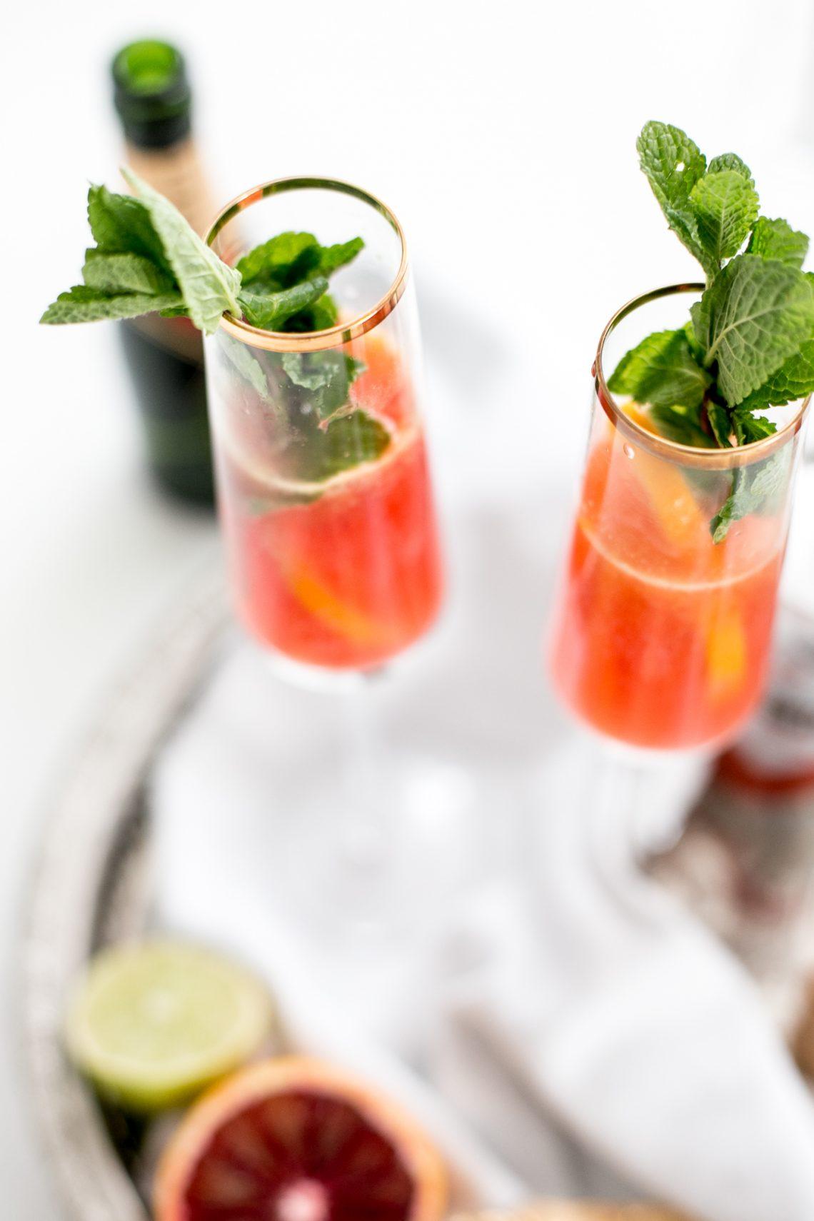 Bubbly Friday: Blood Orange Champagne Mules