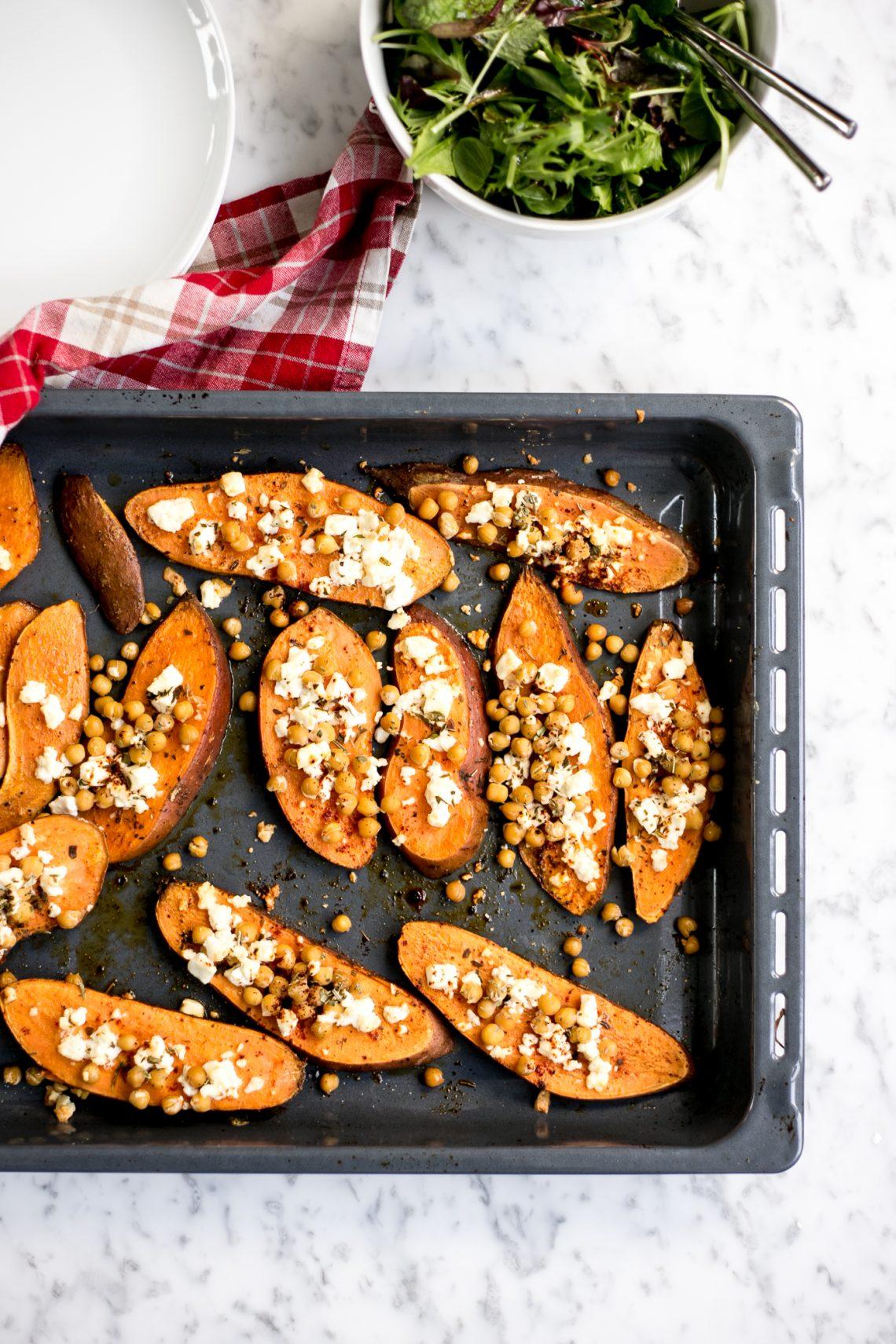 Rezept: Sweet Potato & Feta Sliders