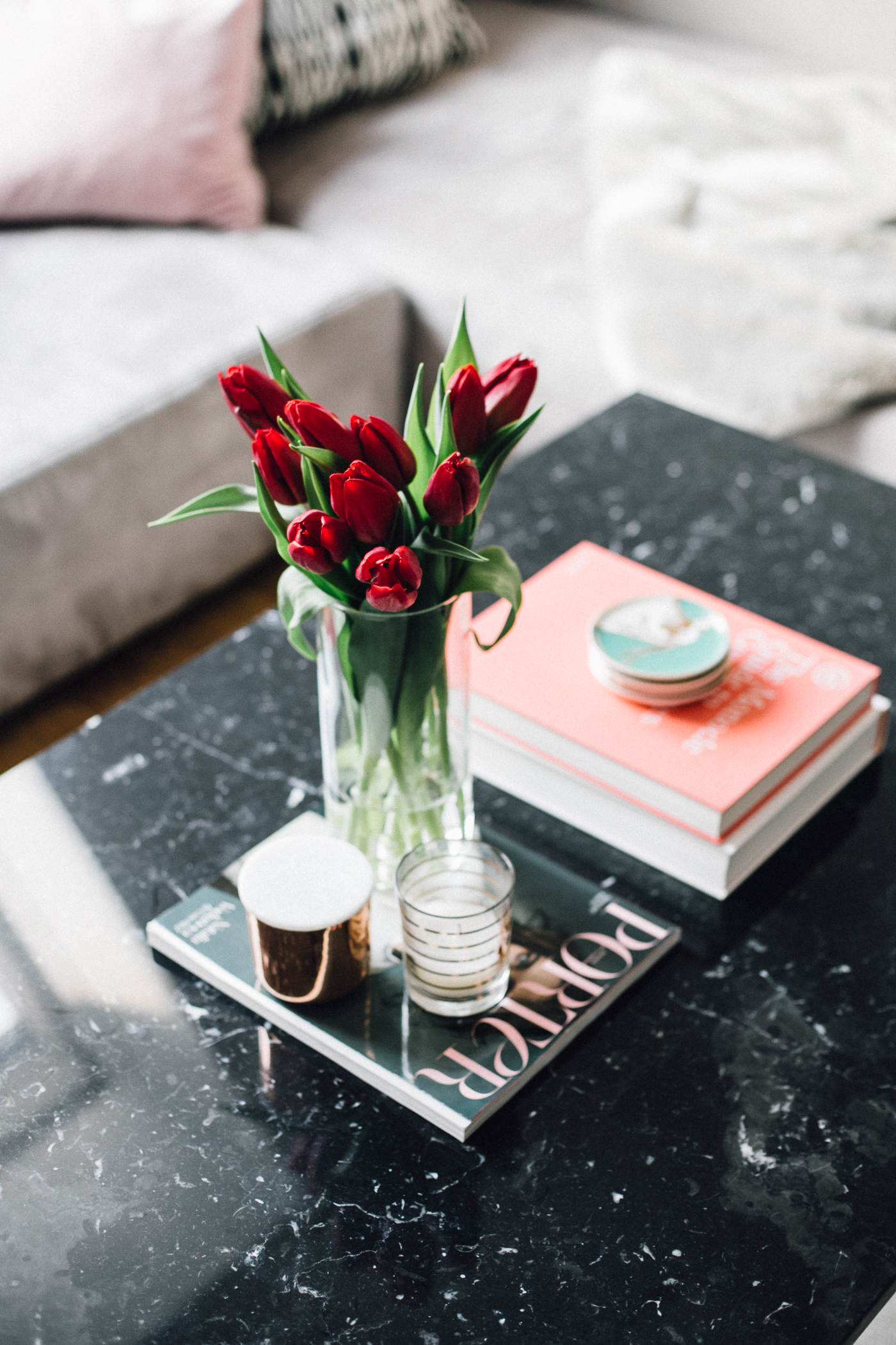 Black Marble Coffee Table Interior Inspiration | Love Daily Dose