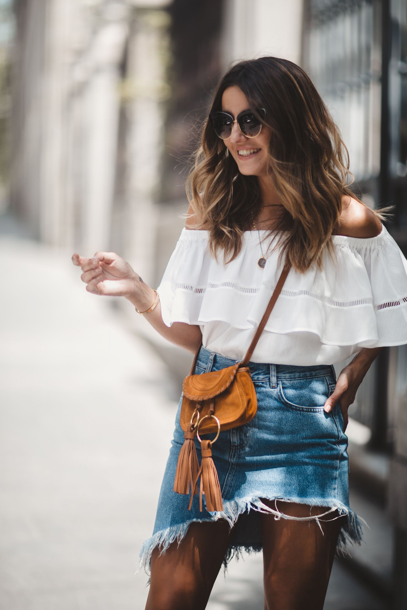 Steal Her Style: Asymmetrical Denim Skirt by Lovely Pepa