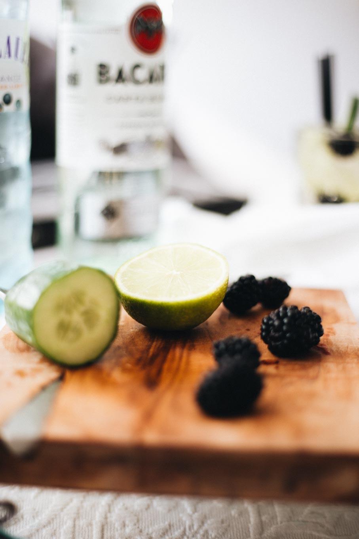 Bubbly Friday: Skinny Blackberry Cucumber Mojito The Daily