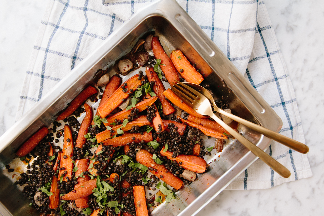 Recipe: Sweet & Spicy Carrot Lentil Salad