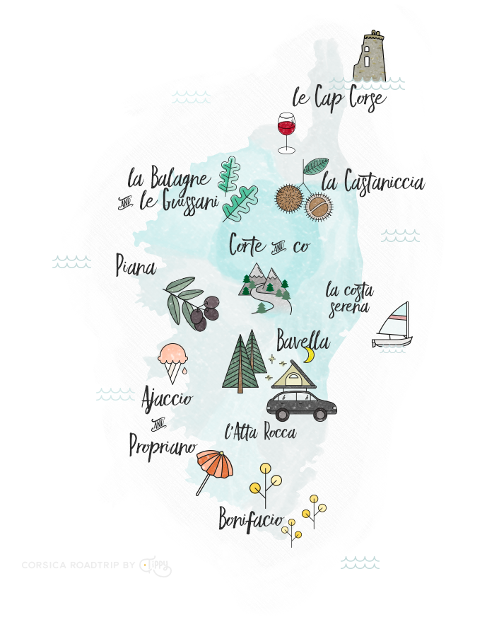 Corsica Map | Love Daily Dose