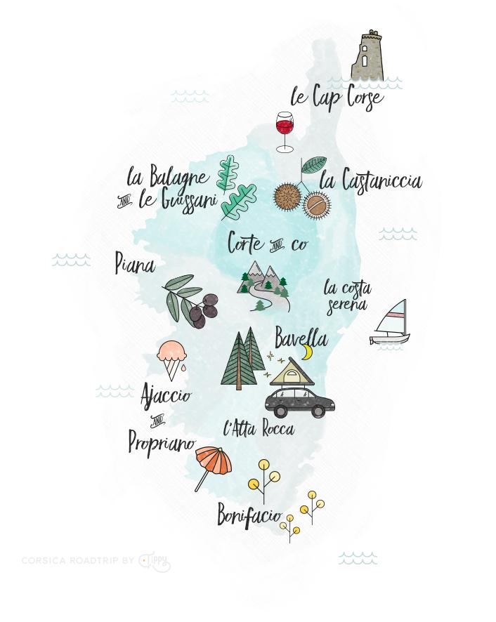 Corsica Map   Love Daily Dose