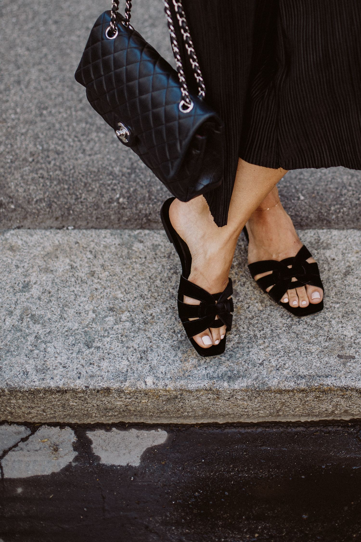 Editor's Pick: Saint Laurent Nu Pieds velvet sandals | Love Daily Dose