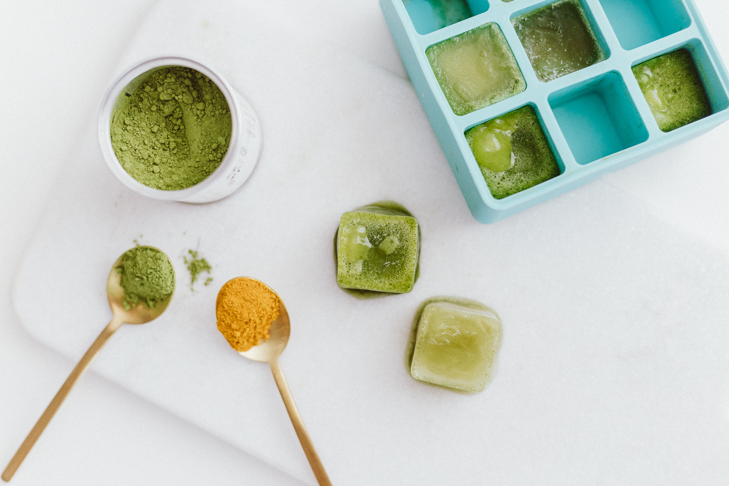 Iced Turmeric Ginger Matcha Latte Recipe | Love Daily Dose