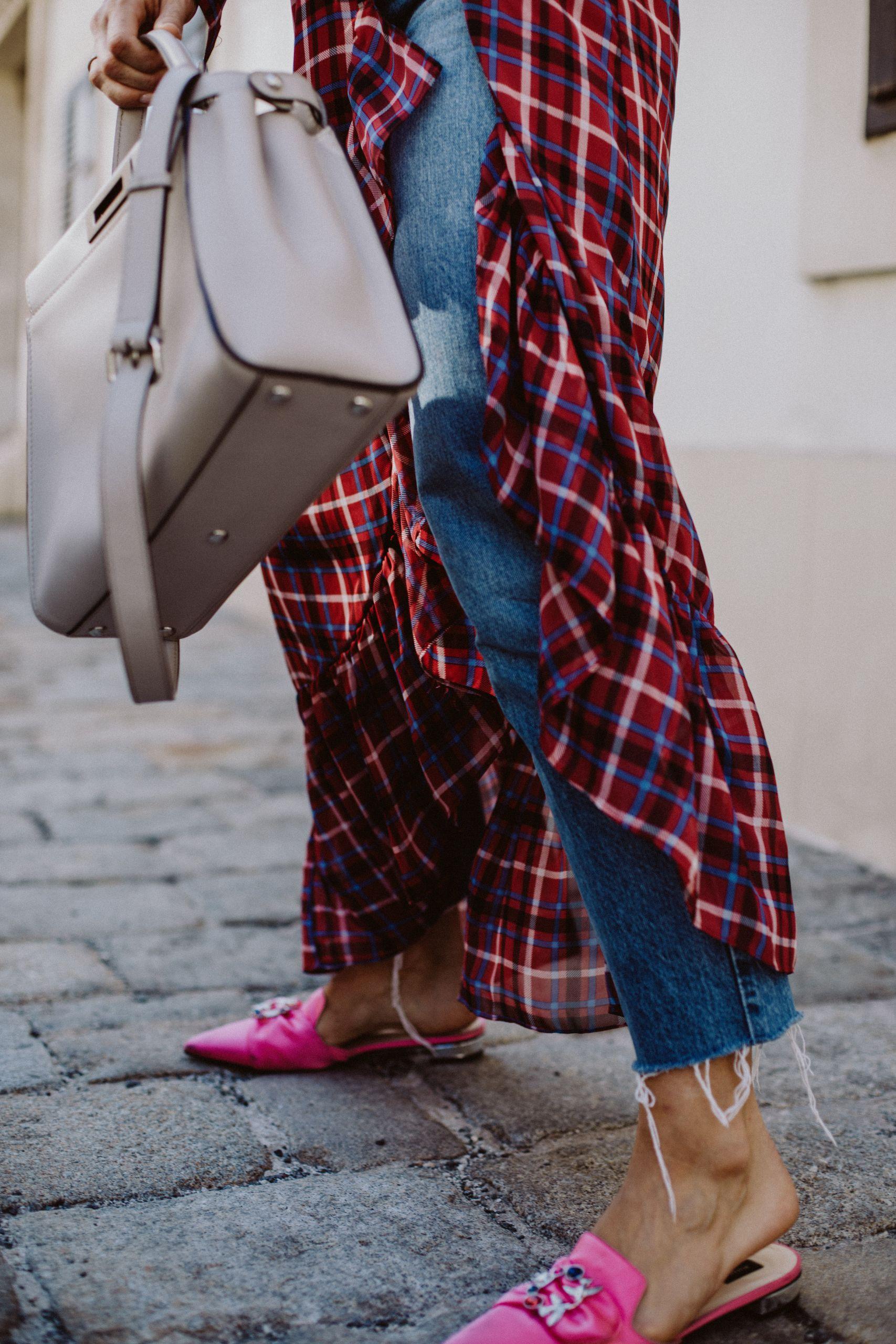 Editor's Pick: Kleider über Jeans stylen, Karokleider | Love Daily Dose