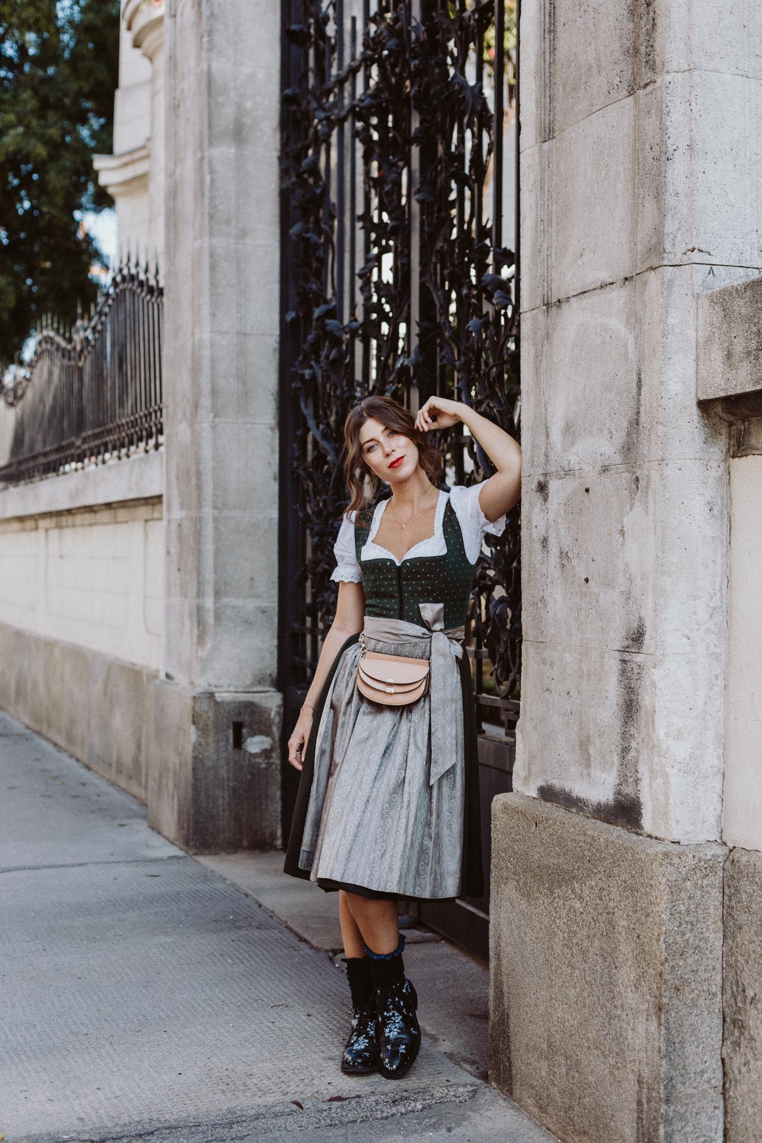 In Tracht We Trust: Oktoberfest Dirndl Outfit, Lena Hoschek Magdalena Dirndl | Love Daily Dose